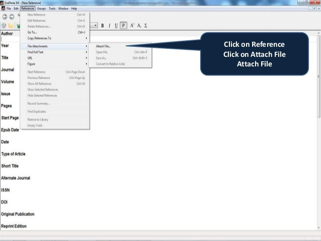 endnote how to add new reference