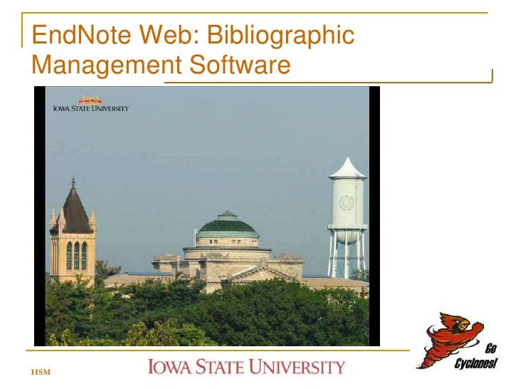 EndNote Web: Bibliographic Management Software     HSM