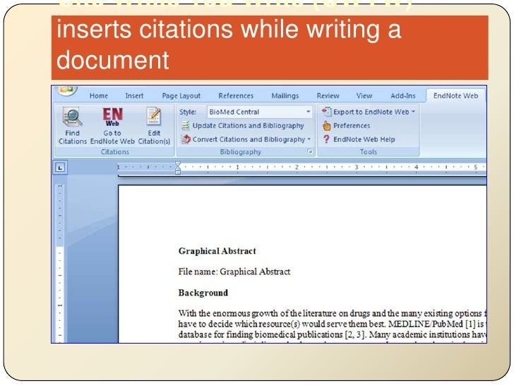 Cite While You Write (CWYW)inserts citations while writing a document<br />