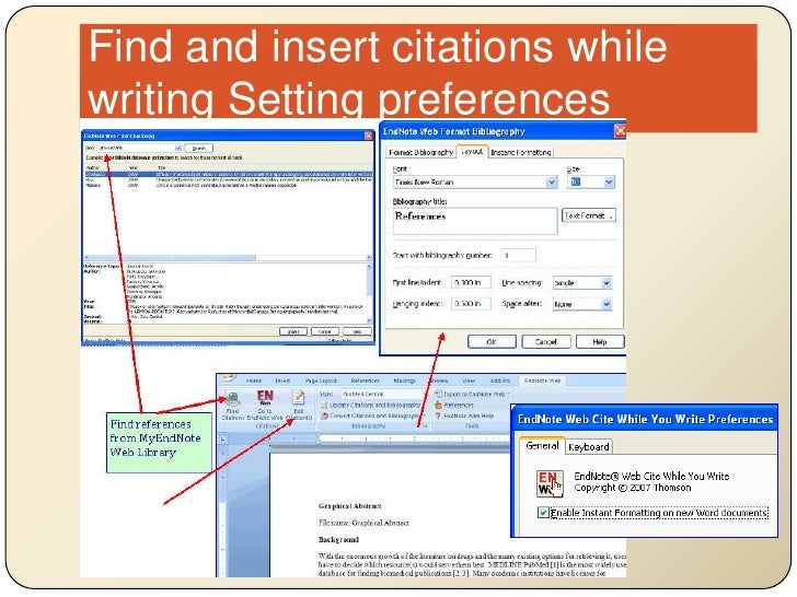 Find and insert citations while writing Setting preferences<br />