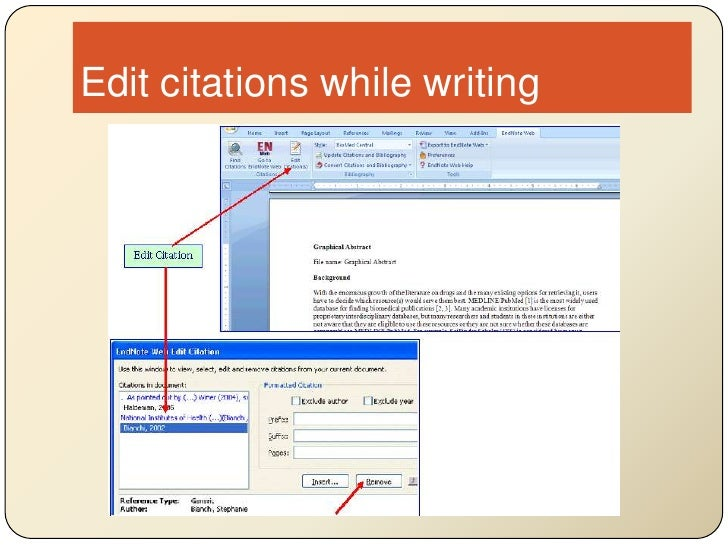 Edit citations while writing<br />