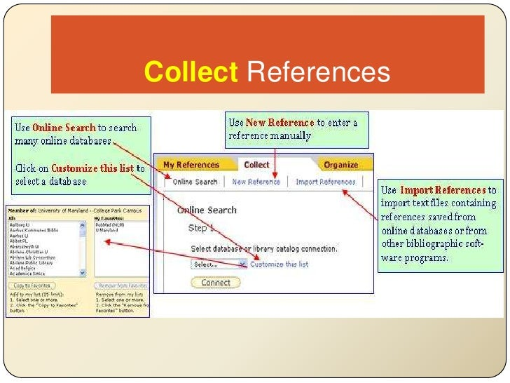 CollectReferences<br />
