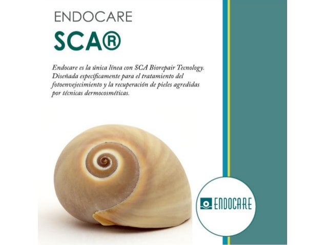 ENDOCARE  SCA®  Endacare e:  la finita linea con S C.4 Biorepair 7120201051. Disefiada especgîcamentepara e!  tratamiento de...