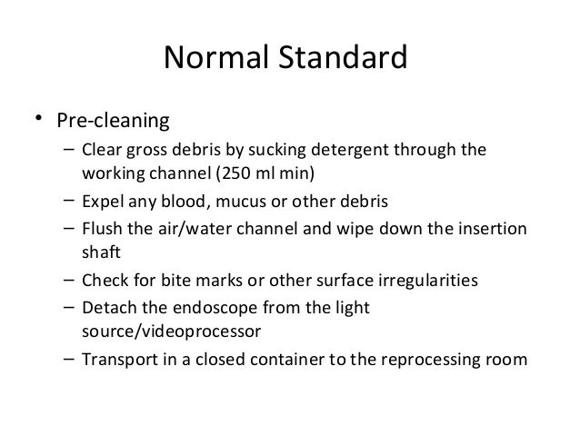 Practice Guidelines Endocopic Disinfection Amp Reprocessing