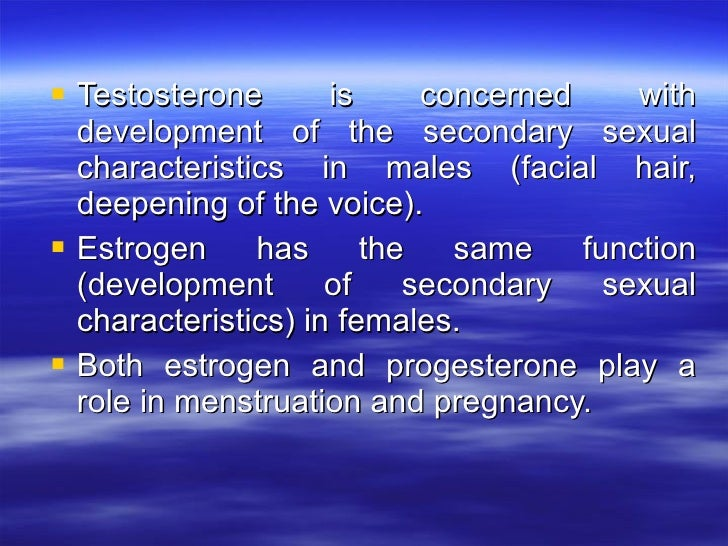 hormones and secondary sex characteristics in St. Johns