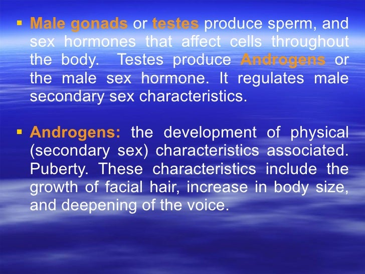 hormones that affect secondary sex characteristics male in Gosport