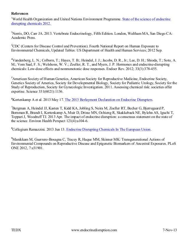 Endocrine Disruption Fact Sheet