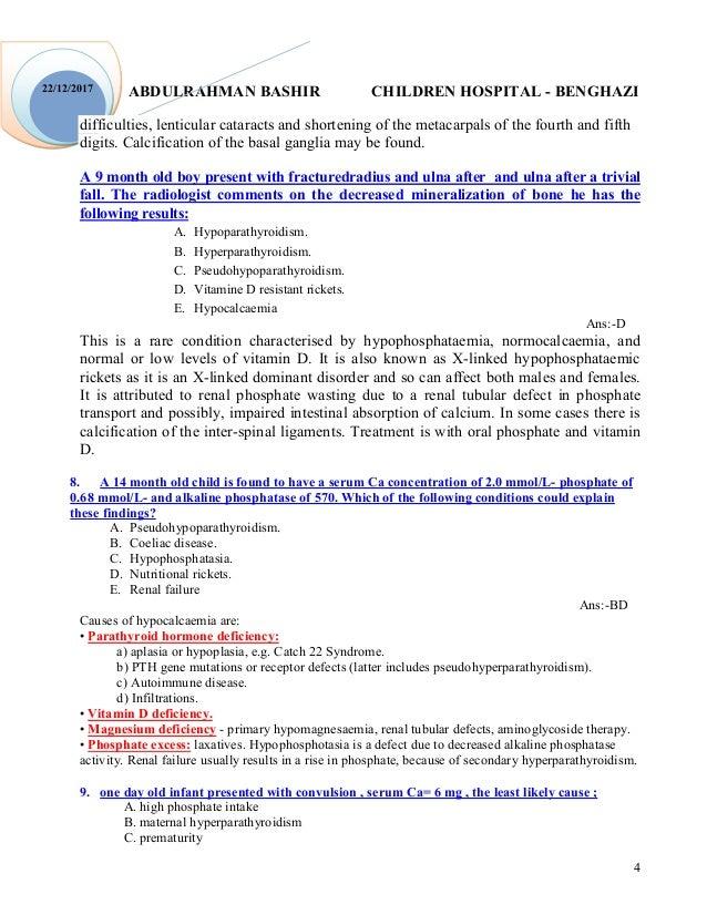 ABDULRAHMAN BASHIR CHILDREN HOSPITAL - BENGHAZI 4 22/12/2017 difficulties, lenticular cataracts and shortening of the meta...