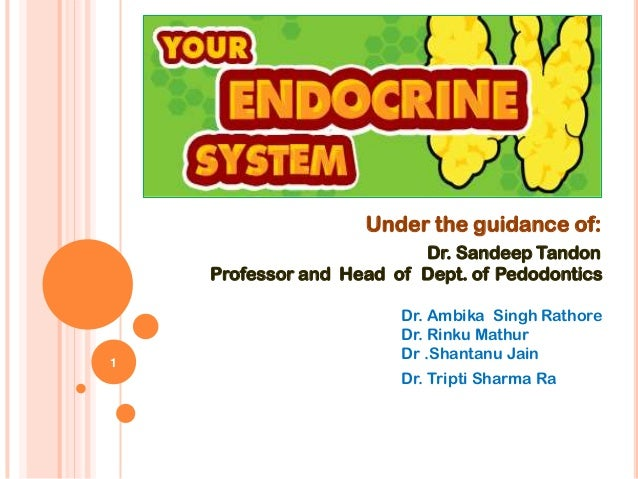 Under the guidance of:                          Dr. Sandeep Tandon    Professor and Head of Dept. of Pedodontics          ...
