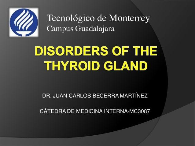 DR. JUAN CARLOS BECERRA MARTÍNEZ CÁTEDRA DE MEDICINA INTERNA-MC3087 Tecnológico de Monterrey Campus Guadalajara