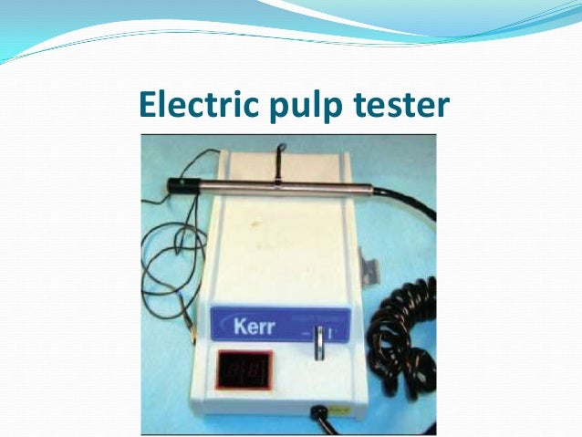 Electric pulp tester