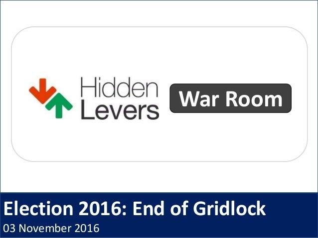 Election 2016: End of Gridlock 03 November 2016 War Room