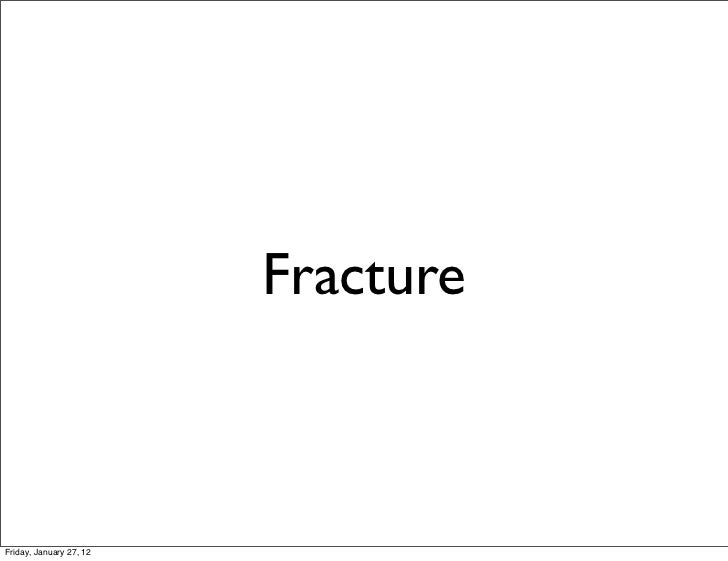 FractureFriday, January 27, 12