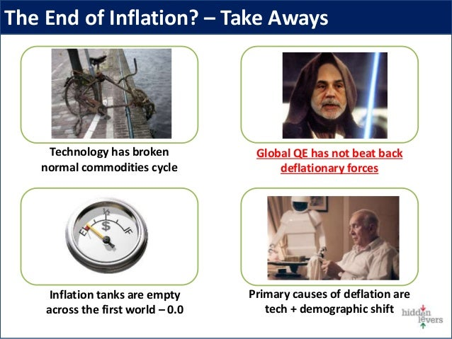 The End of Inflation? – Take Aways Inflation tanks are empty across the first world – 0.0 Primary causes of deflation are ...