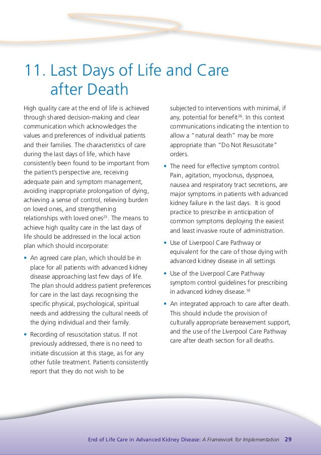 integrated care pathway quality of end of life Purpose: the purpose was to develop an end-of-life care (eolc) policy for  patients  the quality of care of the dying within an ethical framework and through  a  figure 2: end‑of‑life care process pathway [1] modified with permission.
