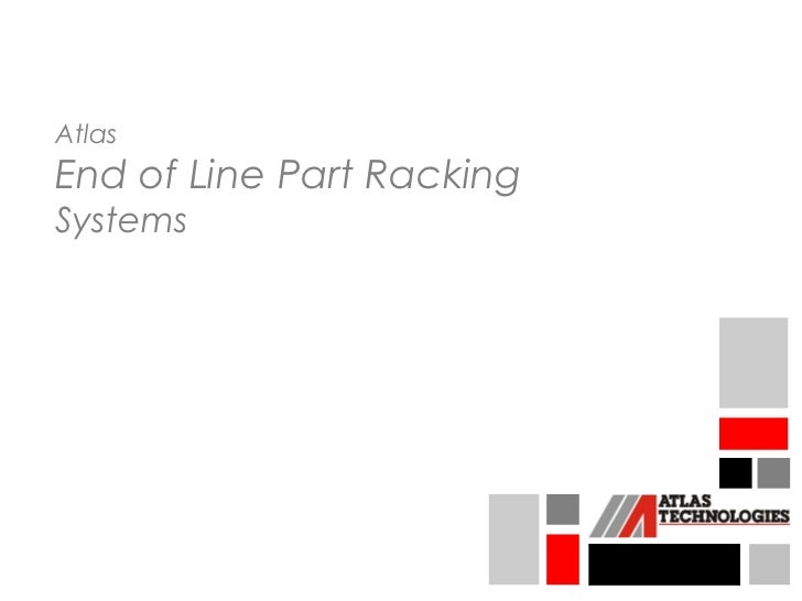 AtlasEnd of Line Part RackingSystems