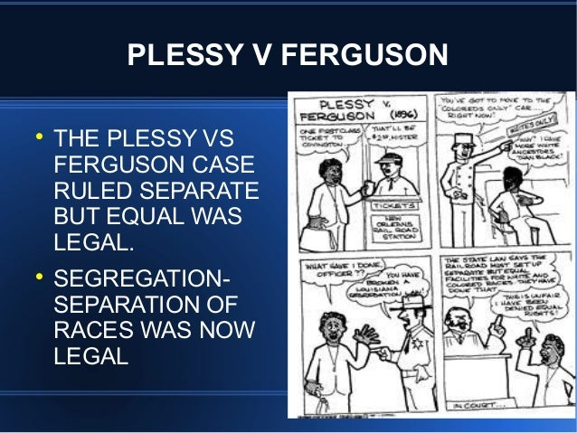 plessy v ferguson essay question In 1892, homer plessy – who was seven-eighths caucasian – agreed to  participate  question does the separate car act violate the fourteenth  amendment.