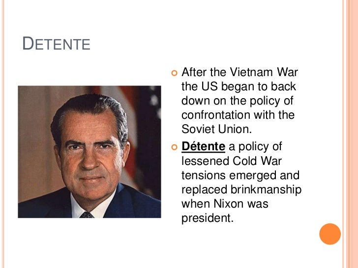 Detenteu003cbr ...  sc 1 st  SlideShare & End of the cold war