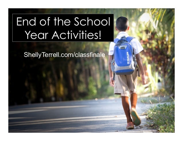 ShellyTerrell.com/classfinale End of the School Year Activities!