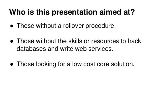 End of year Moodle course rollovers Slide 2
