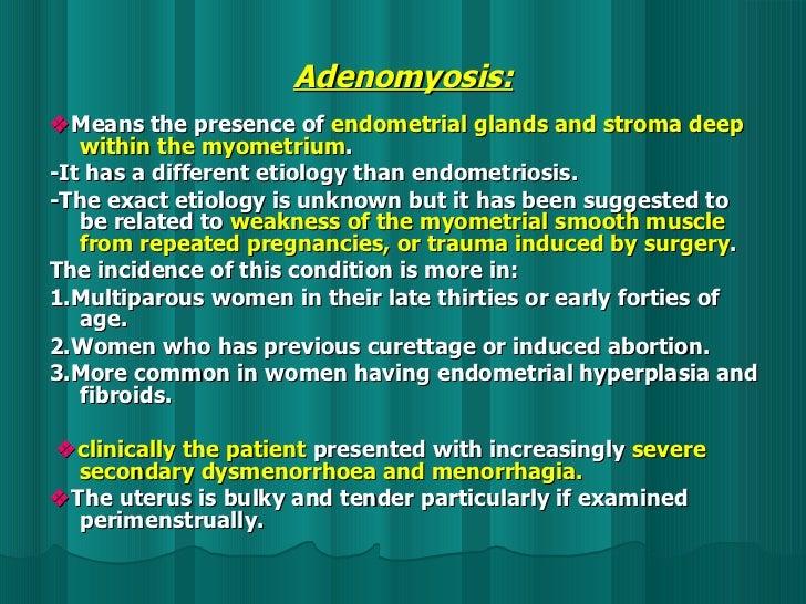 gyanaecology.endometriosis and adenomyosis.(dr.salama)