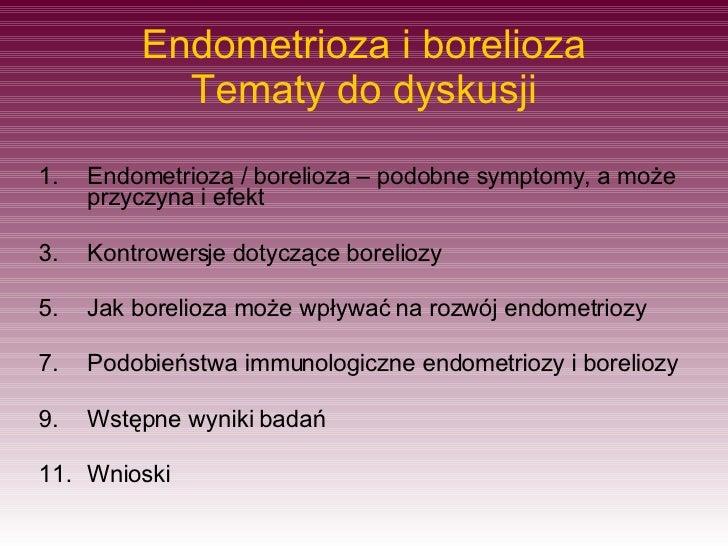 Endometrioza W Boreliozie
