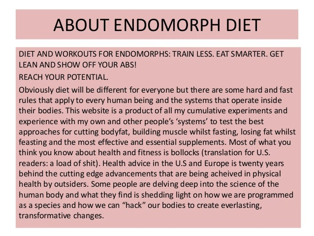 Endomorph diet ppt
