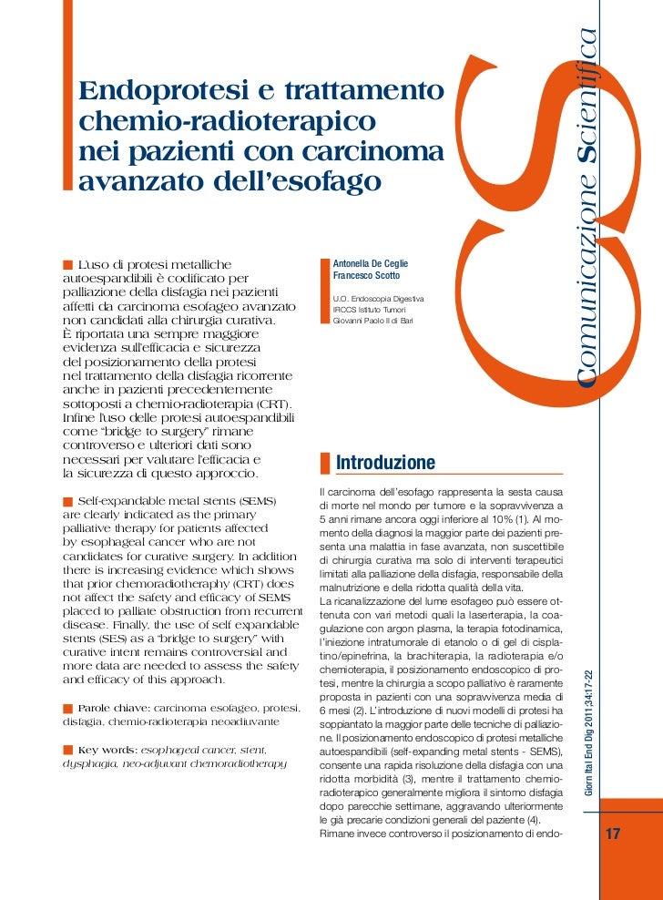 Comunicazione Scientifica                                                                   CS  Endoprotesi e trattamento ...