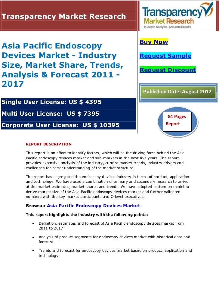 Transparency Market Research                                                                         Buy NowAsia Pacific E...