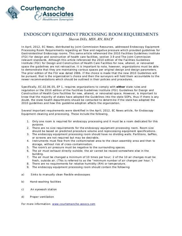 Endoscopy Room Equipment List
