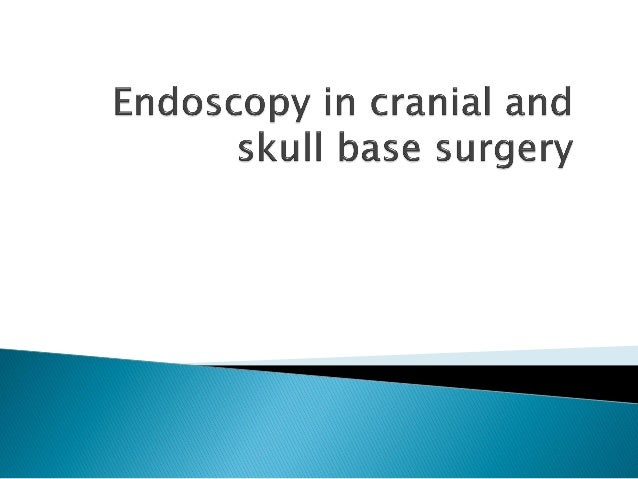  The advent of neuroendoscopy has had a remarkable impact on the field of neurosurgery.  It has been attended by a numbe...