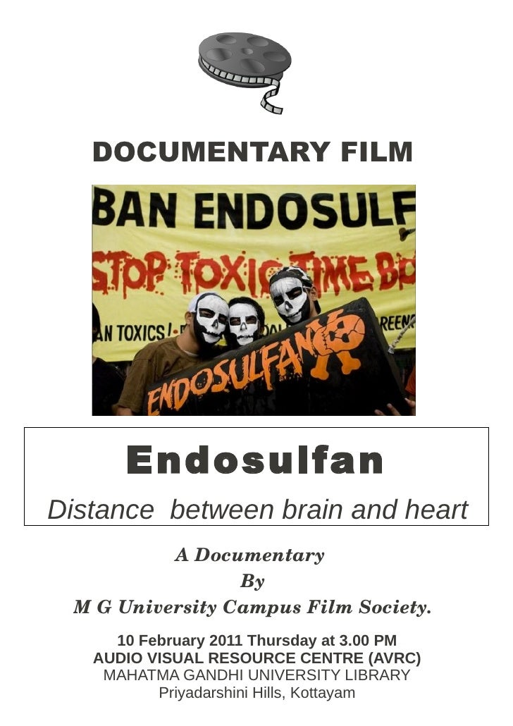 DOCUMENTARY FILM      EndosulfanDistance between brain and heart           ADocumentary                  By MGUnivers...