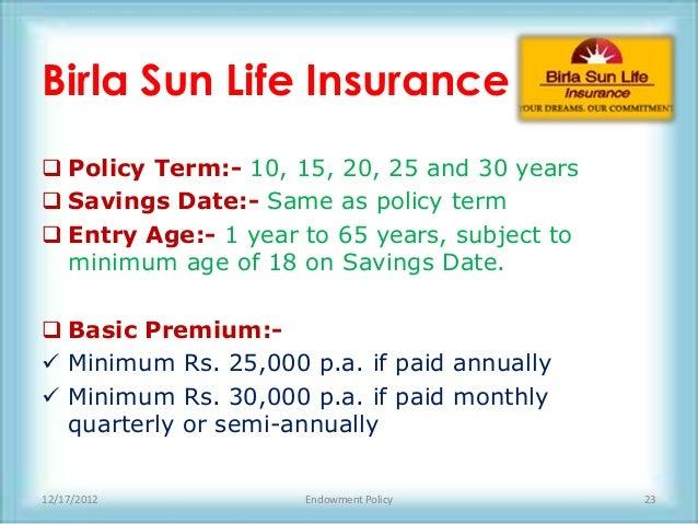 Term life insurance maturity date