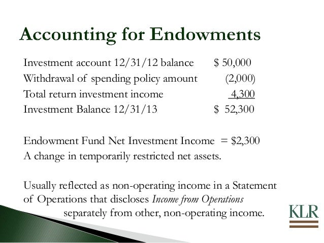Nonprofit Accounting & Reporting For Endowments