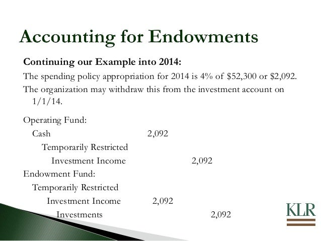 Nonprofit Accounting Reporting For Endowments