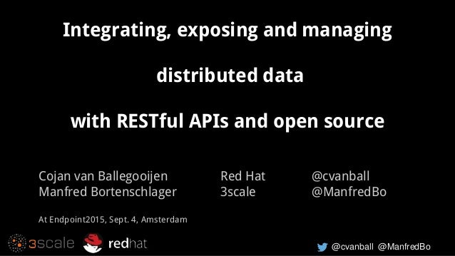 @cvanball @ManfredBo Integrating, exposing and managing distributed data with RESTful APIs and open source Cojan van Balle...