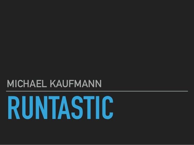 RUNTASTIC MICHAEL KAUFMANN