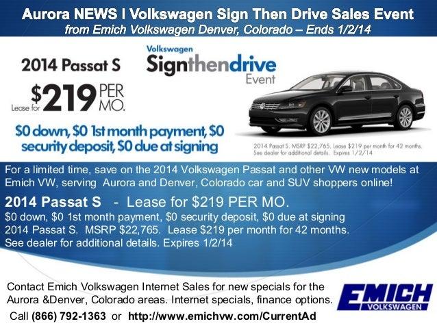 ends 1-2-14 l vw sign then drive sales event l serving aurora, co l …