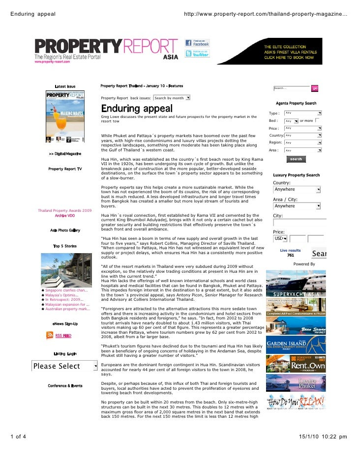Enduring appeal                                                                                http://www.property-report....