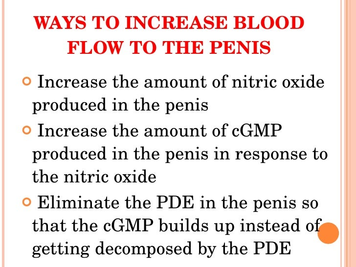 How To Get More Blood Flow To Penis