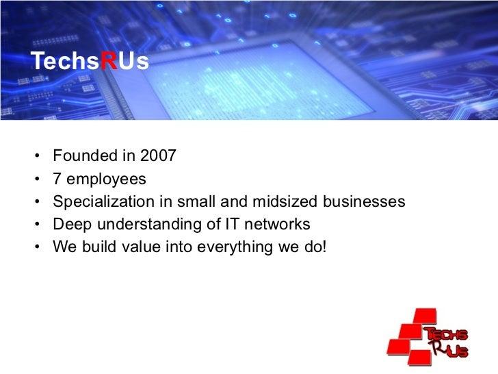 Managed Services Presentation Slide 2