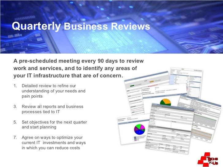 quarterly business report