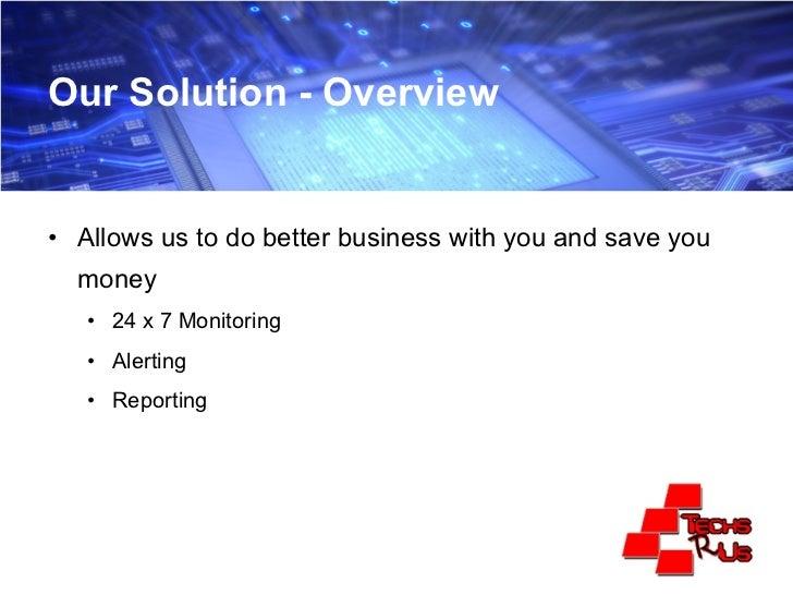 Managed Services Presentation Slide 3