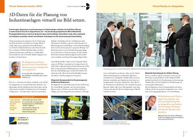 Virtual Dimension Center (VDC)  Virtual Reality im Anlagenbau  3D-Daten für die Planung von Industrieanlagen virtuell ins ...