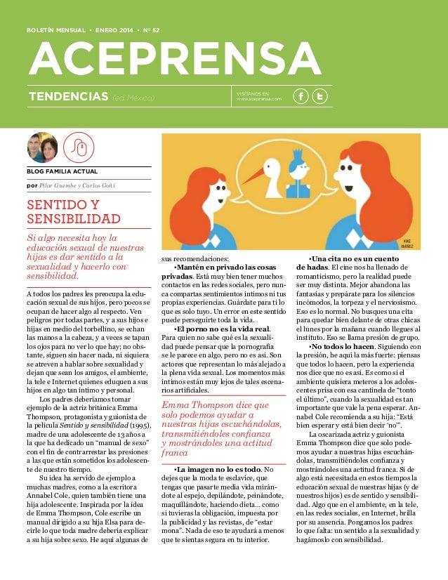 BOLETÍN MENSUAL • ENERO 2014 • Nº 52  ACEPRENSA TENDENCIAS  (ed. México)  VISÍTANOS EN www.aceprensa.com  BLOG FAMILIA ACT...