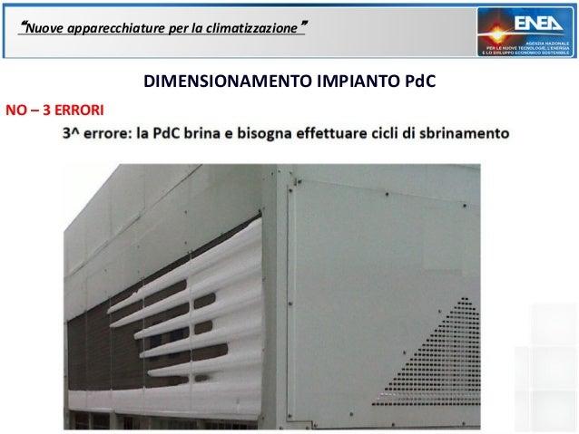 """""""Nuove apparecchiature per la climatizzazione""""                     DIMENSIONAMENTO IMPIANTO PdCNO – 3 ERRORI"""