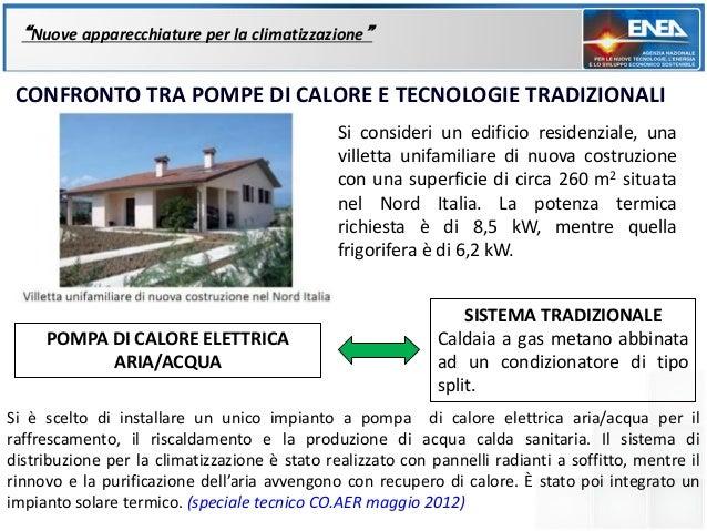 """""""Nuove apparecchiature per la climatizzazione"""" CONFRONTO TRA POMPE DI CALORE E TECNOLOGIE TRADIZIONALI                    ..."""