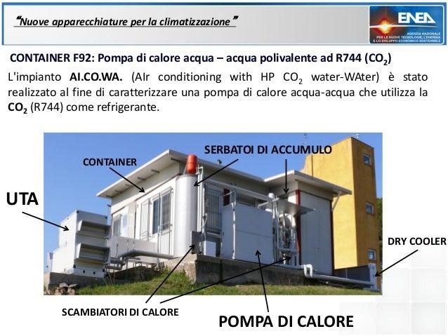"""""""Nuove apparecchiature per la climatizzazione""""CONTAINER F92: Pompa di calore acqua – acqua polivalente ad R744 (CO2)Limpia..."""