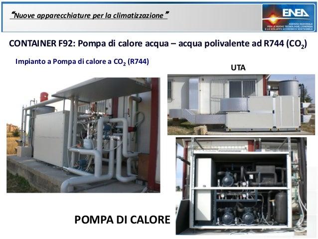 """""""Nuove apparecchiature per la climatizzazione""""CONTAINER F92: Pompa di calore acqua – acqua polivalente ad R744 (CO2) Impia..."""