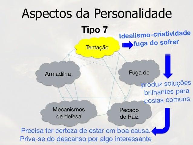 Tentação Armadilha Aspectos da Personalidade Idealismo-criatividade fuga do sofrer Mecanismos  de defesa Pecado  de Raiz F...